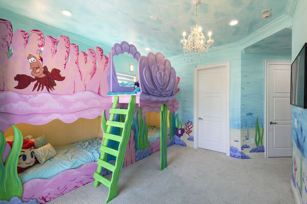 Travel under the sea to this custom-built bedroom