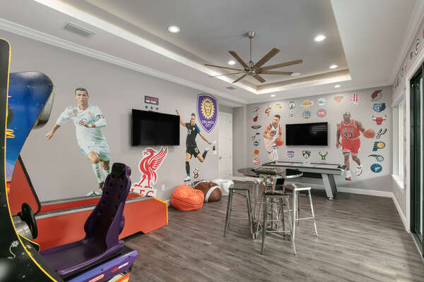 Play surrounded by your favorite sports teams