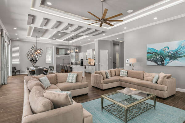 The large living area is great for getting the whole family together