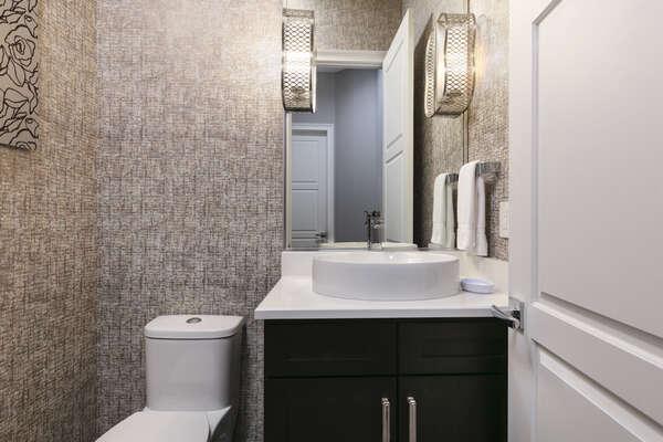 Downstairs hallway bathroom