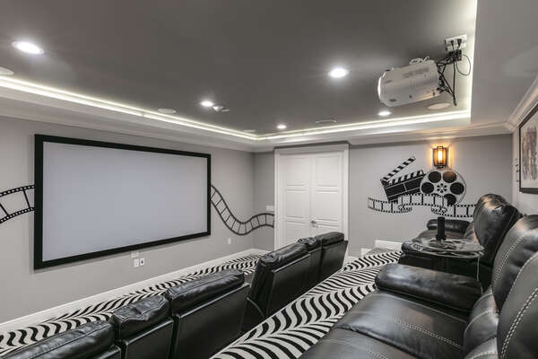 Watch a family favorite movie in the private home theater.