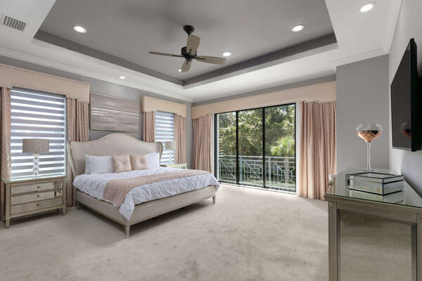Have a peaceful night`s sleep in this Master Suite