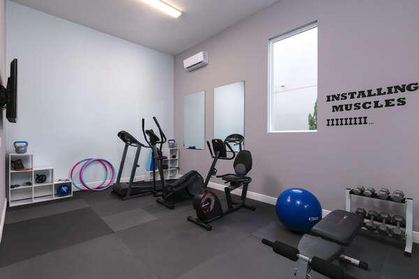 Keep up your fitness routine in the home gym