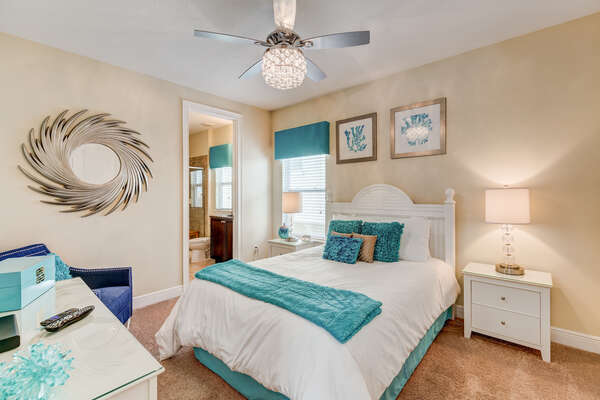 Drift off to sleep in this queen bed