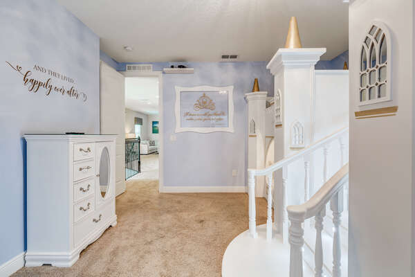 Children with have the sweetest of dreams in this bedroom