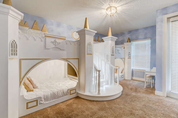 Your princesses will love this royal bedroom