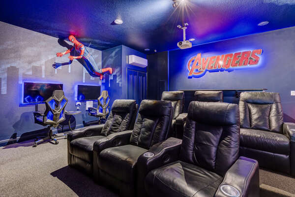 6 leather recliner seats