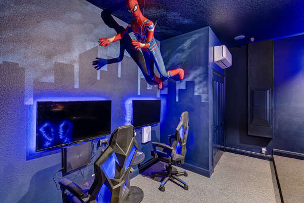 Play PS4 or Xbox One on the 2 gaming TVs