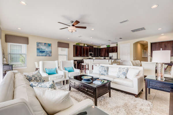 The open-concept living area makes it perfect for bringing the whole family together