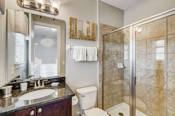 Ensuite features a walk-in shower