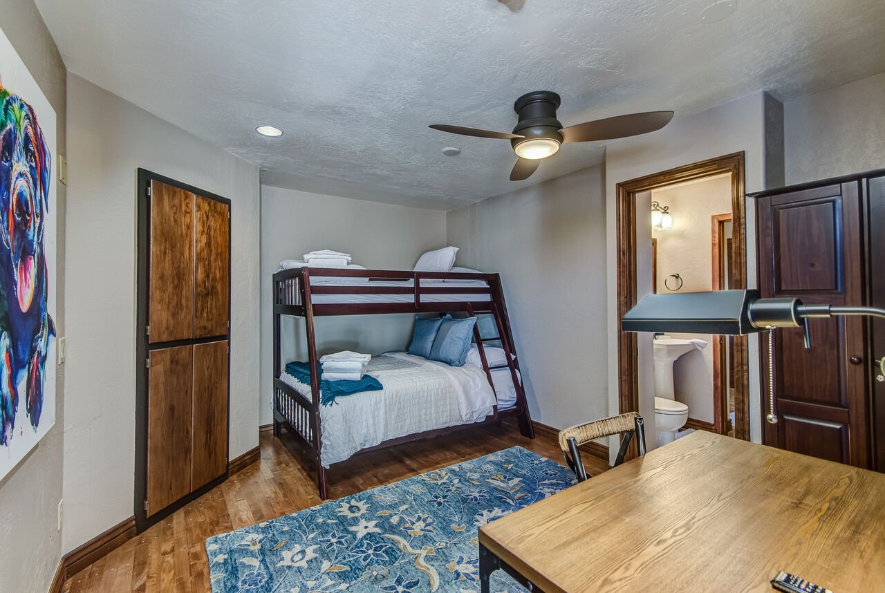 Bedroom 4 - Bunk Room - Twin over Full Bunk Bed, and Access to Shared Jack-n-Jill Bath