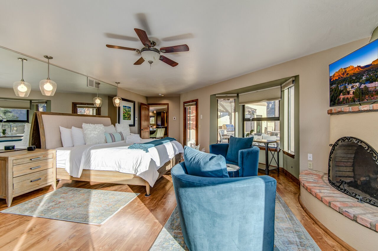 Grand Master Bedroom with a King Bed