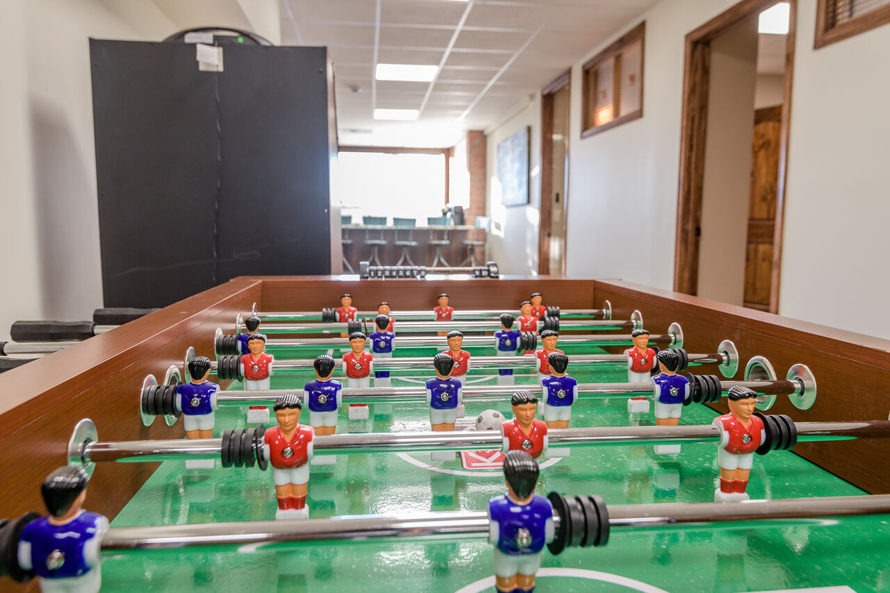 Lower Level Game Room with a Foosball Table