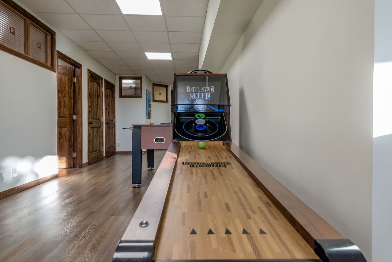 Game Room with a Skee Ball Machine