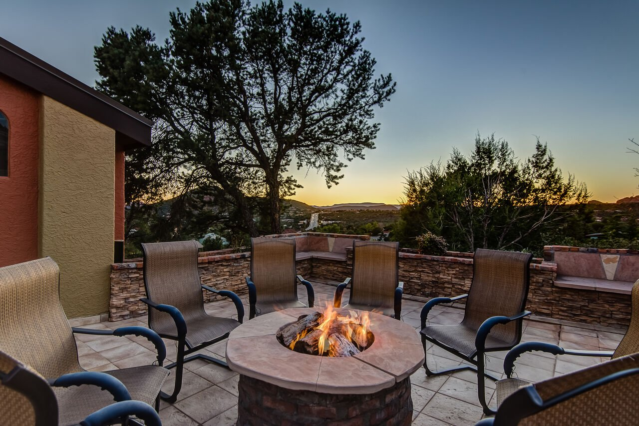 Warm Fire Pit for the Cooler Evenings