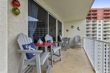 patio chairs on balcony