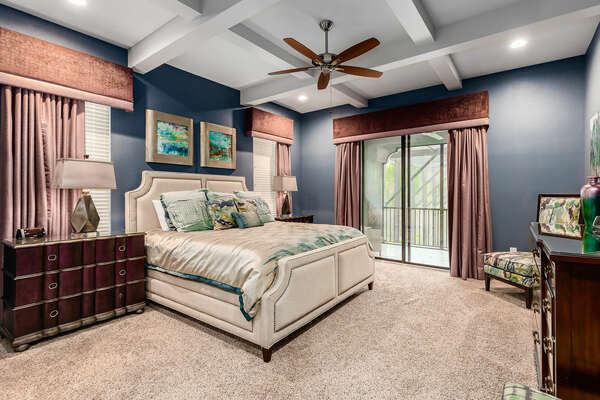 This luxurious master suite is the perfect place to retreat to after a long day