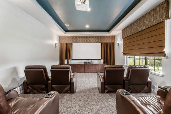 Grab the popcorn and watch a family favorite in the home theater