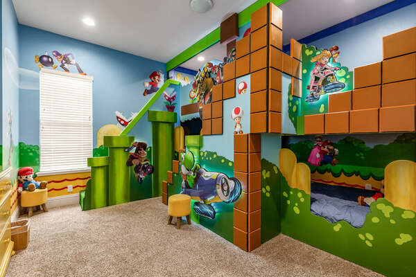 Be transported to another world in this kids bedroom