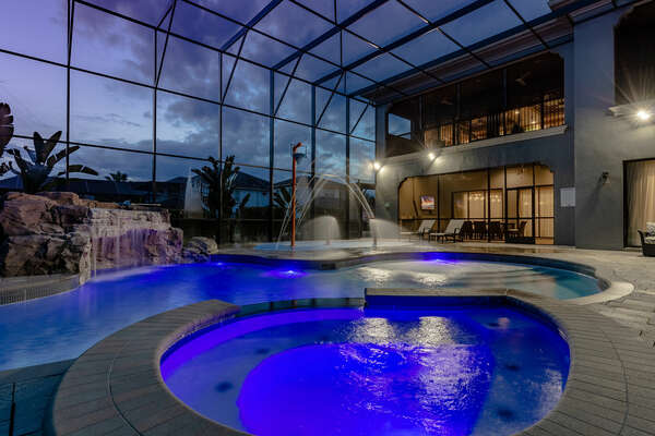 The spillover spa is a great way to relax after a day of theme parks