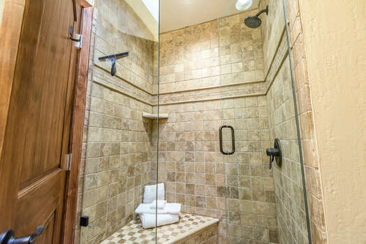 Shared Jack-n-Jill Bath with a Tile / Glass Shower