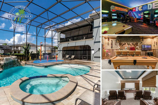 Built For Vacation is a luxurious 8 bedroom villa with a South facing private pool, splash pad, game room & custom kids bedrooms | PHOTOS TAKEN: October 2020