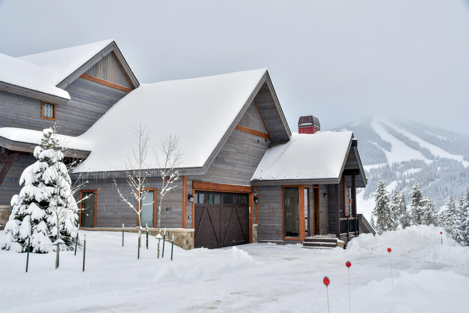 Front exterior with amazing ski resort views