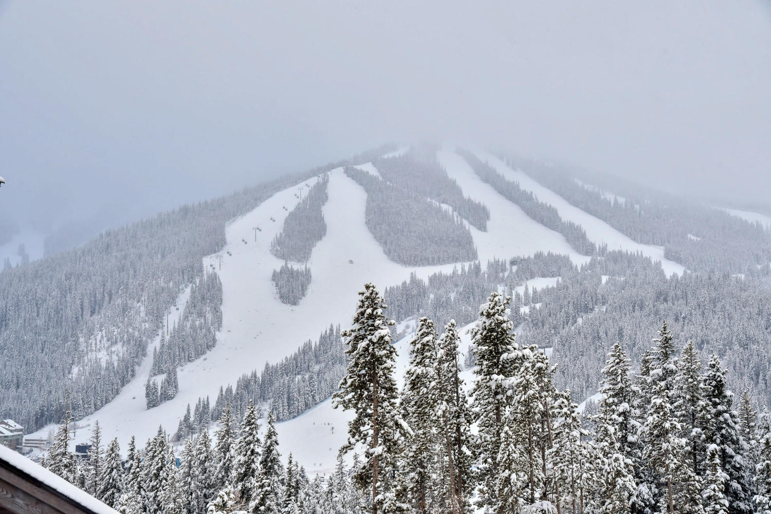 Amazing ski resort views from the back deck