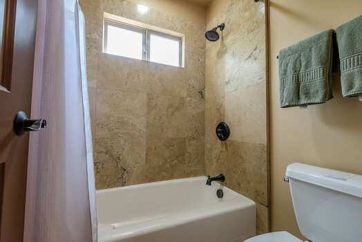 Full Shared Bath with a Separate Tub/Shower Combo