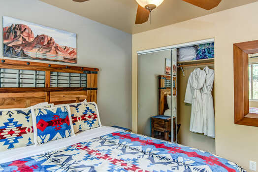 Main Level Bedroom 2 with a Queen Bed, 50