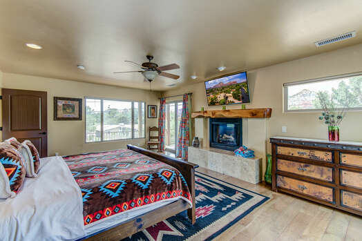 Upper Level Master Bedroom with a King Bed