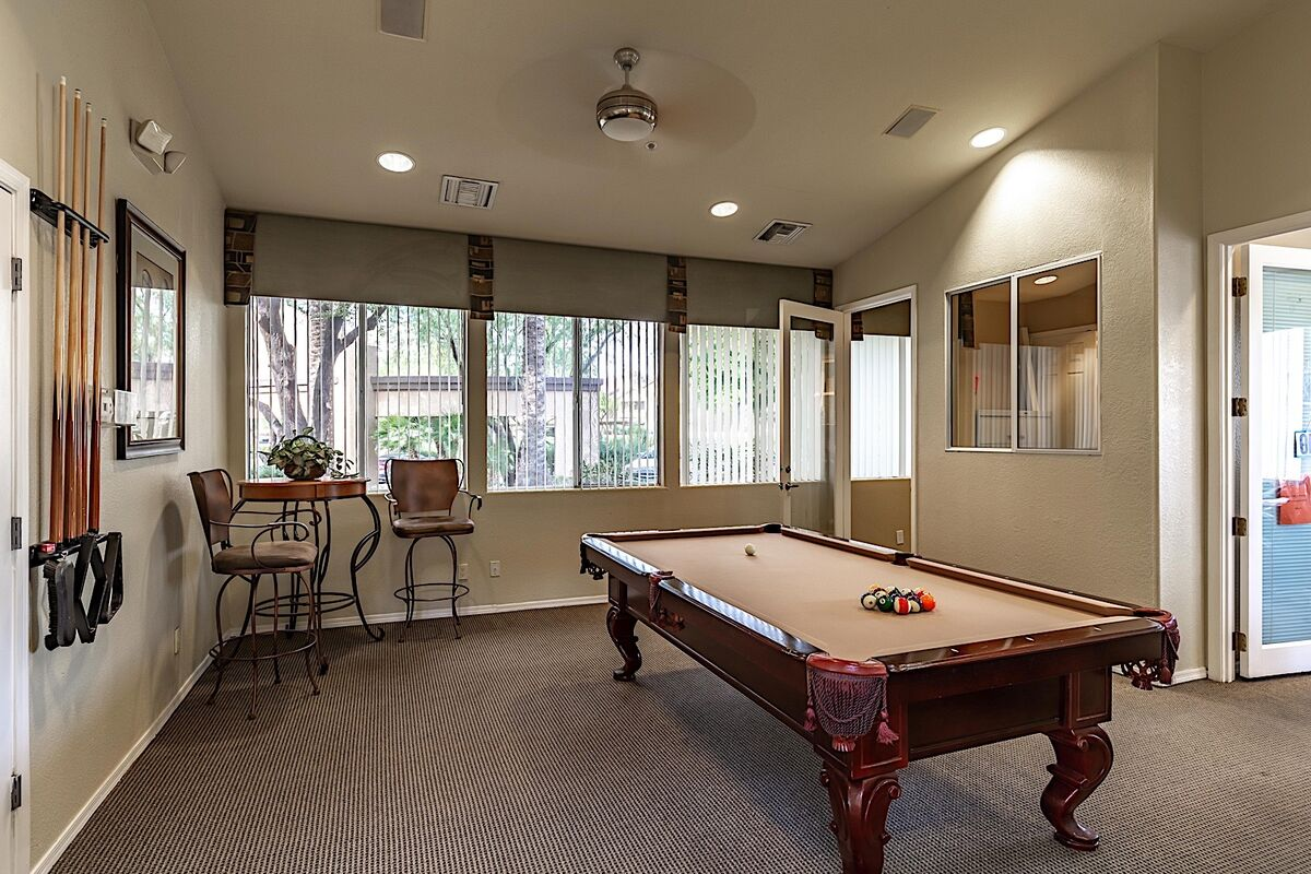 Pool table located at the clubhouse