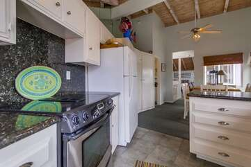 Kitchen with stove top