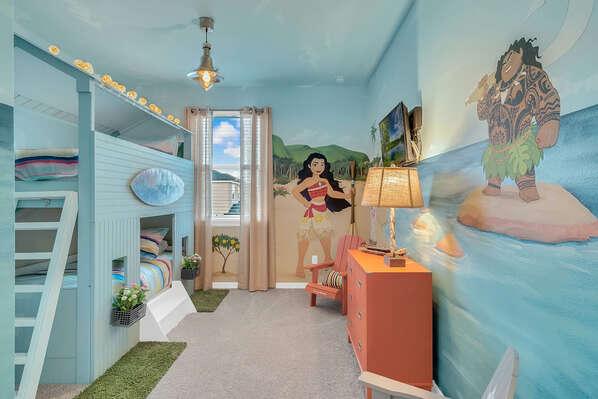Island themed kids bedroom