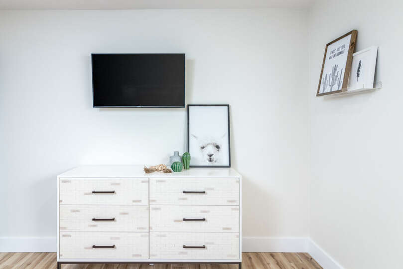 Dresser and TV of Fourth Bedroom