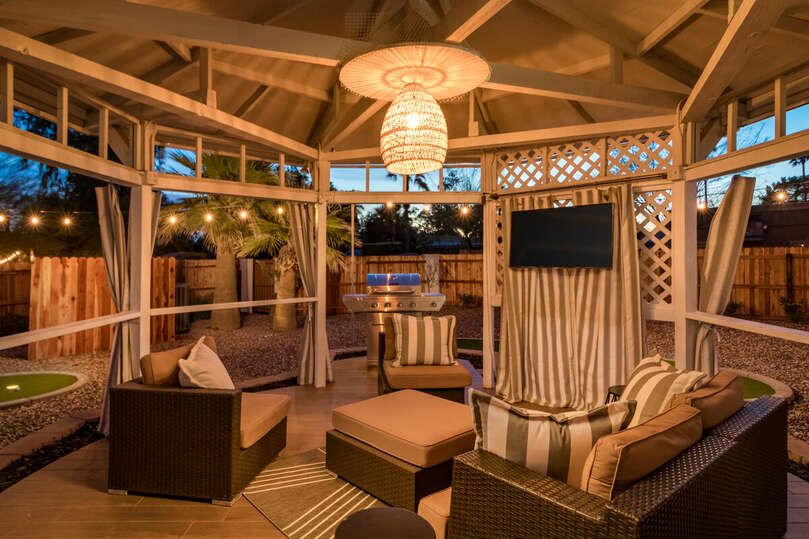 Outdoor Gazebo with TV
