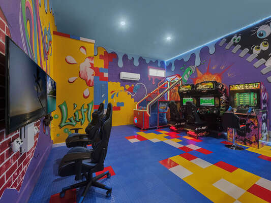 Have a blast in the downstairs Game Room.