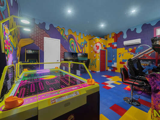 A variety of arcade games for all ages.