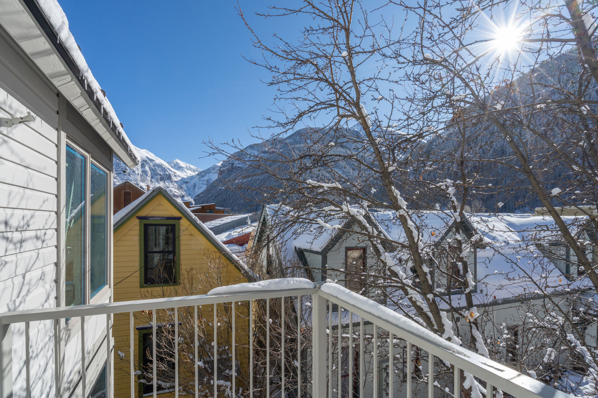 Poarch view from our Telluride vacation home rental