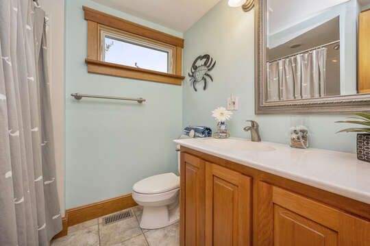 Full bath with large shower. 350 Barn Hill Road Chatham Cape Cod - New England Vacation Rentals