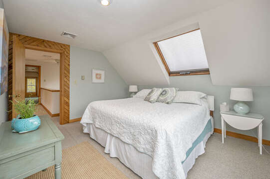 Bedroom #3 King bed, 2 night stands and skylight. 350 Barn Hill Road Chatham Cape Cod - New England Vacation Rentals