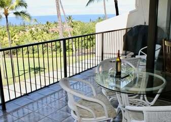 Lanai with BBQ and Outdoor Seating at Country Club Villas 334
