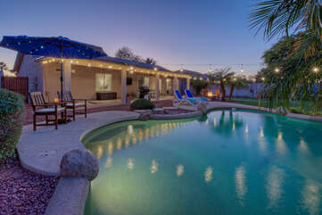 Our newly remodeled 3 BR 2 BA home with heated pool offers you a slice of paradise in warm and sunny Arizona
