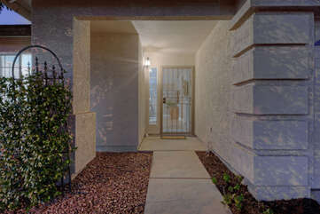 Private entrance invites you into newly remodeled, newly decorated one story home