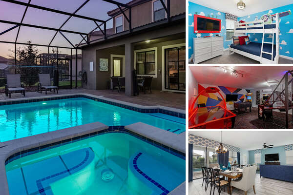 Welcome to Sunny Side Getaway, a 6 bedroom 6 bathroom vacation home in Champions Gate |PHOTOS TAKEN: November 2019 |