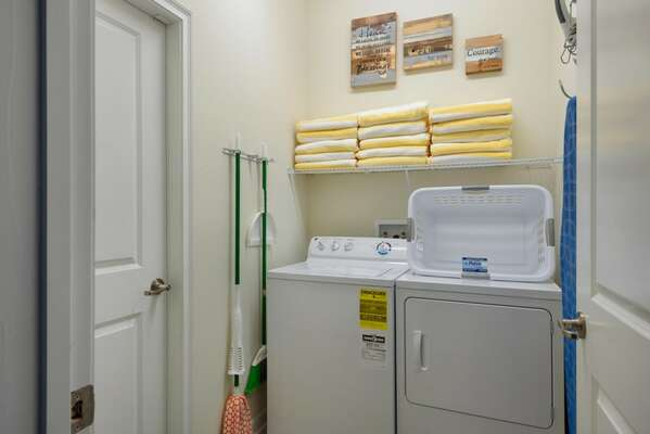 In-home washer and dryer for your convenience