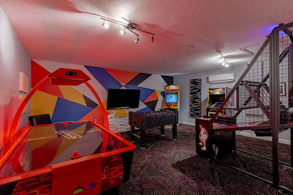 Have a blast in the game room