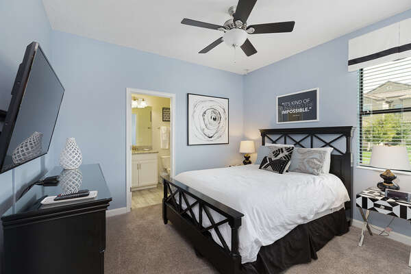 Choose this bedroom with a queen bed