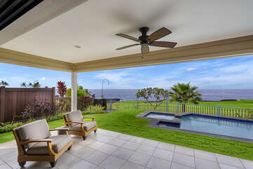 Spacious lanai with incredible ocean views
