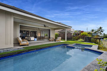 Relaxing outdoor space with private pool